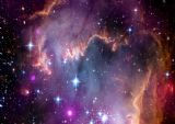 Small Magellanic Cloud Space Print/Poster. Sizes: A1/A2/A3/A4 (003246)